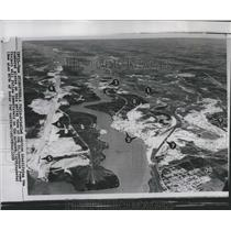 1958 Press Photo Aerial Stt. Lawrence Power Project - RRR27599