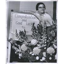1960 Press Photo Spelling Ann Malpentine United States