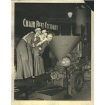 1937 Press Photo Concrete Mixer Displayed Join National - RRR71963