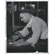1952 Press Photo Wayne Salisbury  Jackson Printer MS Po