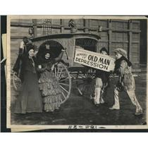 1932 Press Photo Old Wagons Leave For World's Fair - RRR87185