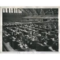1947 Press Photo FBI Identification Division DC Armory