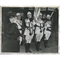 1945 Press Photo Commenwealth Edison Post Color Guard - RRR96983