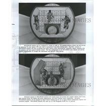 1985 Press Photo Spacehab Middeck augmentation module
