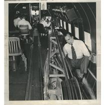 1948 Press Photo Magnetometer Crew Plane Oil Search