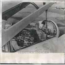 1957 Press Photo Instrument Panel Navy T2V-1 Jet