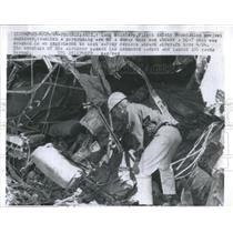 1964 Press Photo Protruding Arm DC-7 Experiment Crash