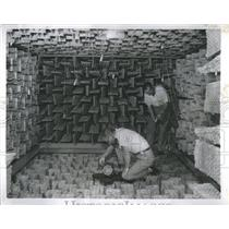 1957 Press Photo Lockheed Aircraft Anechoic Chamber