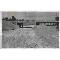1953 Press Photo Highway Road Street
