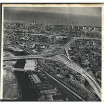 1964 Press Photo Southwest Passage Blimp View