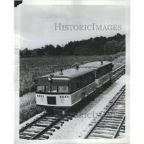 1957 Press Photo Snow Boxes Woman - RRR54485