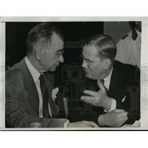 1944 Press Photo New York Frank Lawrence and EM Wilder at baseball meeting NYC