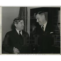 1939 Press Photo New York US Labor Official John R Steelman with James Dewey NYC