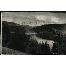 1933 Press Photo Beauty Bay in Lake Coeur d'Alene, Idaho - spx11164
