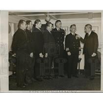 1939 Press Photo New York Crewmen of Liner Awarded For Heroism NYC - neny04968