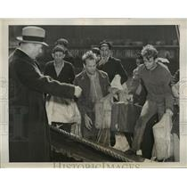 1939 Press Photo New York Crew of Ill Fated Freighter Arrive in New York NYC