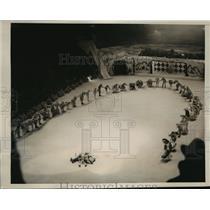 1939 Press Photo New York Sonja Henies Spectacular Ice Show Opens NYC