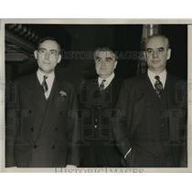 1939 Press Photo John L Lewis Phil Murray John A Morrow - neny05152