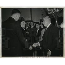 1944 Press Photo New York Princess Juliana visits Netherlands' Seamen in NYC