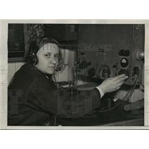 1939 Press Photo New York Elizabeth Gieorgapulo aboard SS Chelyuskinet NYC