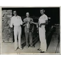 1934 Press Photo Zell Eaton Western Amateur Golf champ, Norman Freer - nes36239