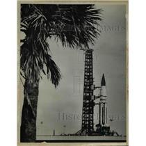 1963 Press Photo SA-5 Saturn launch vehicle at Capre Kennedy Florida launch
