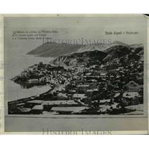 1930 Press Photo Harbor of Lipari - Panorama - nef34121