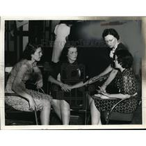 1939 Press Photo Alene Ramaker, Fannie Schut, Edith Vermeer & Edith Emmons