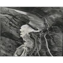 1958 Press Photo Aerial View of Oxbow Dam - oro05870