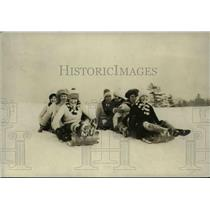 1927 Press Photo Sledding Winter Sport in Canada - nef40227