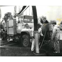 1989 Press Photo Mel Schultz,Larry VanDenHouten-Beaverton storm sewer crews