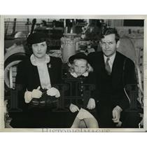 1939 Press Photo New York Dr Herbert Kelly and his family NYC - neny05379