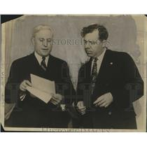 1936 Press Photo Governor Allen and Senator Huey P. Long - nox00571