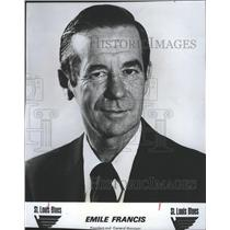 1978 Press Photo Emile Francis St Louis Blues President and General Manager
