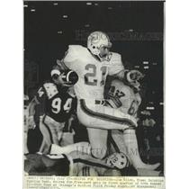 1973 Press Photo Jim Kiick Miami Dolphins running back