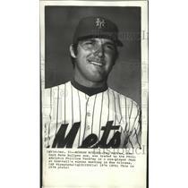 1974 Press Photo Tug McGraw New York Mets bullpen ace