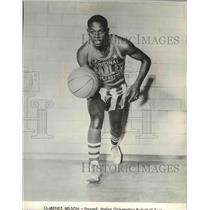 1964 Press Photo Clarence Wilson, Forward Harlem Globetrotters Basketball