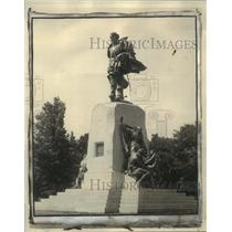 1925 Press Photo Canada-Memorials-Newly unveiled monument to Samuel de Champlain