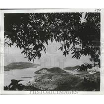1964 Press Photo Rolling Hills Excellent Beaches Highlight St Thomas