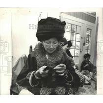 1981 Press Photo Han Lliang Saeteurn Tibetan Woman in Washington State
