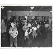 1961 Press Photo Children Entertain From Nearby Village of Unalakleet