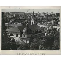 1939 Press Photo Aerial Poland City View - fux00439