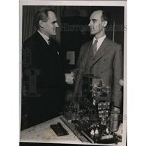 1936 Press Photo Dr Carl D Anderson En Route to Europe Receive Share Nobel Prize