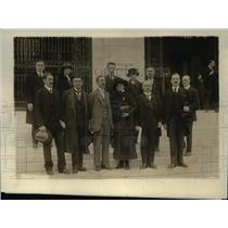 1919 Press Photo Czech Delegation at International Labor Conference - nef40623