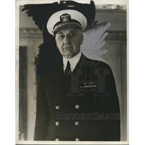 1940 Press Photo Rear Admiral William C. Watts - nef44616