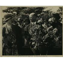 1929 Press Photo Donald MacMillan at ceremony - nef54872