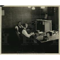 1924 Press Photo DSR Detroit Streetcar Radio Equipment - nef57693