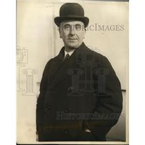 1923 Press Photo Sir Robert Horne Ex Chancellor of the Exchequer - nep00472