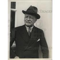 1930 Press Photo His Excellency Jonkheer Van Swinderen of Netherlands