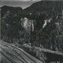 1972 Press Photo Multnomah Falls, one of the famous attractions in Oregon